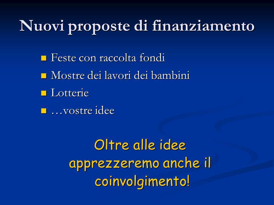 Nuovi proposte di finanziamento