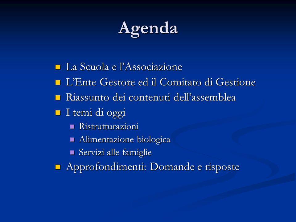 Agenda La Scuola e l'Associazione