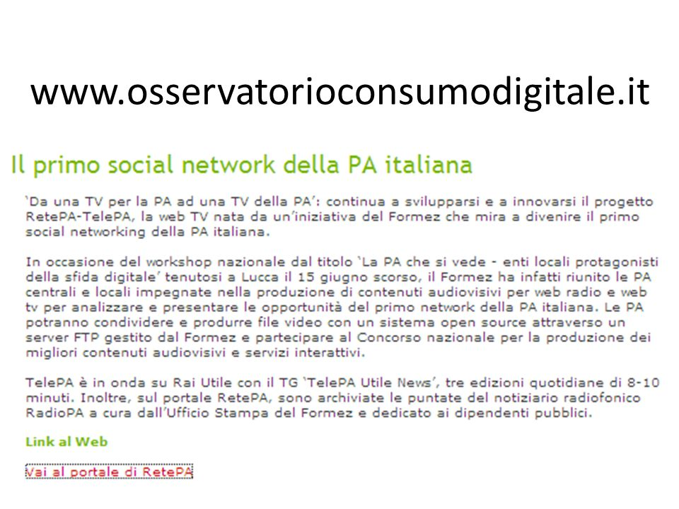www.osservatorioconsumodigitale.it