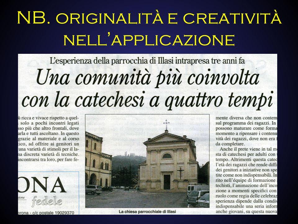NB. originalità e creatività nell'applicazione