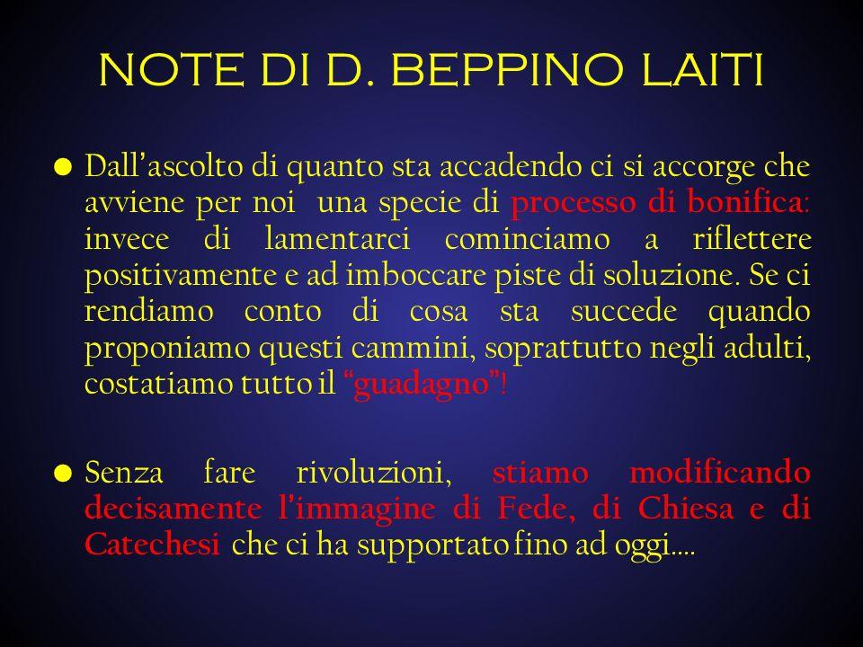 NOTE DI D. BEPPINO LAITI