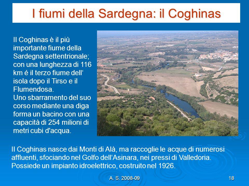 I fiumi della Sardegna: il Coghinas