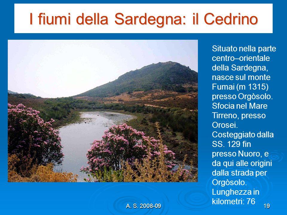 I fiumi della Sardegna: il Cedrino