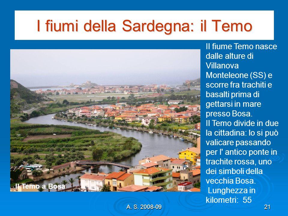 I fiumi della Sardegna: il Temo