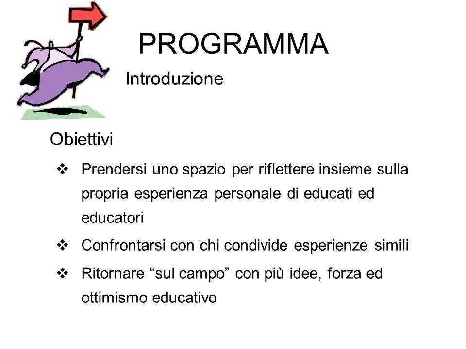 PROGRAMMA Introduzione Obiettivi