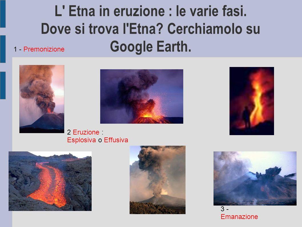 L Etna in eruzione : le varie fasi. Dove si trova l Etna