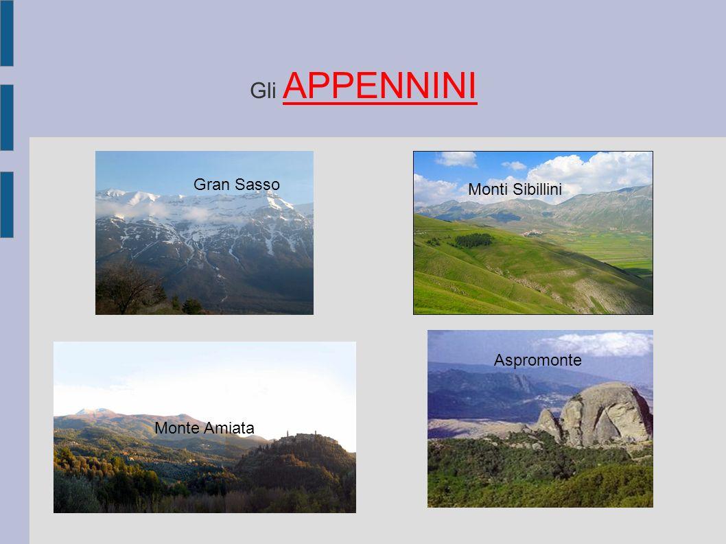 Gli APPENNINI Gran Sasso Monti Sibillini Monte Amiata Aspromonte