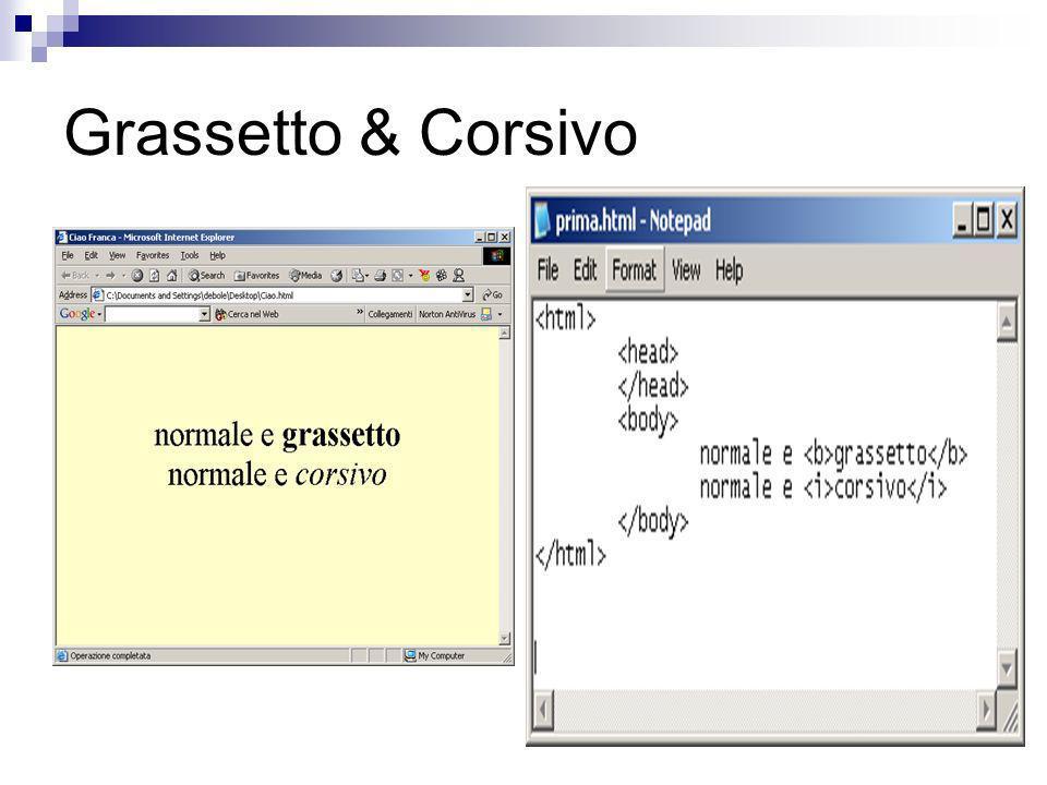 Grassetto & Corsivo