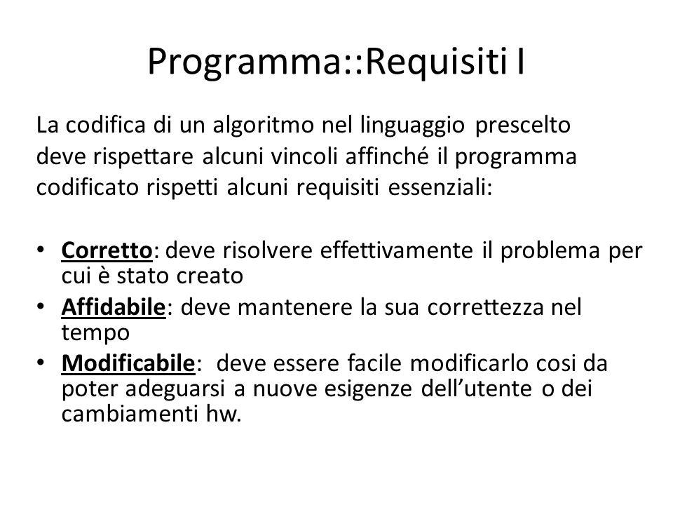 Programma::Requisiti I