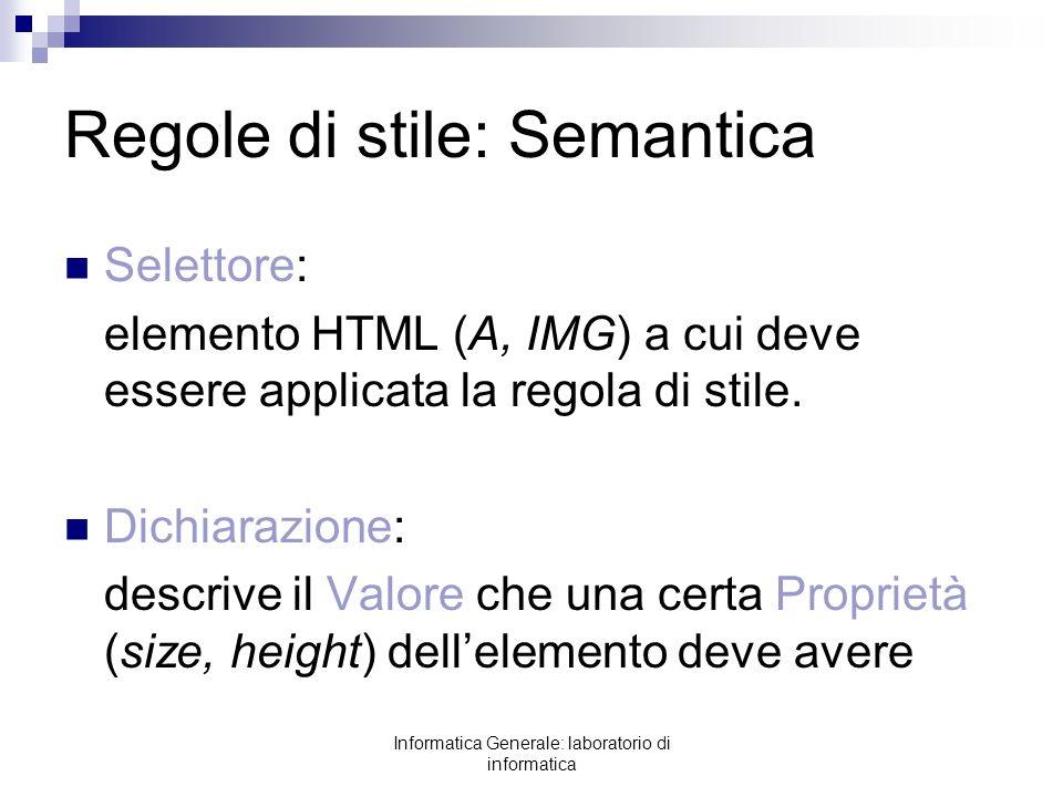 Regole di stile: Semantica