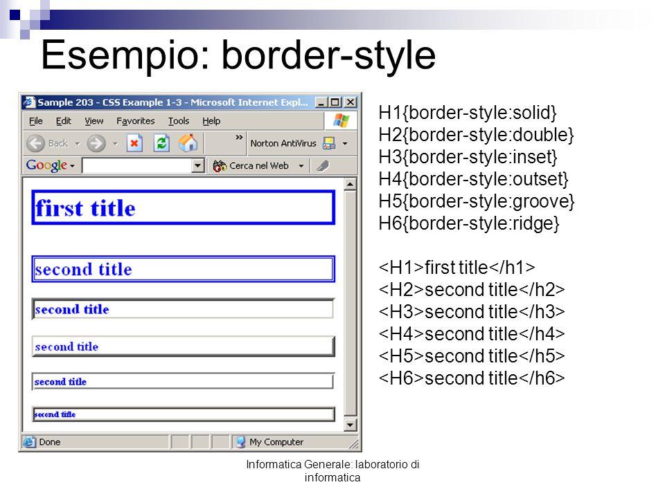 Esempio: border-style