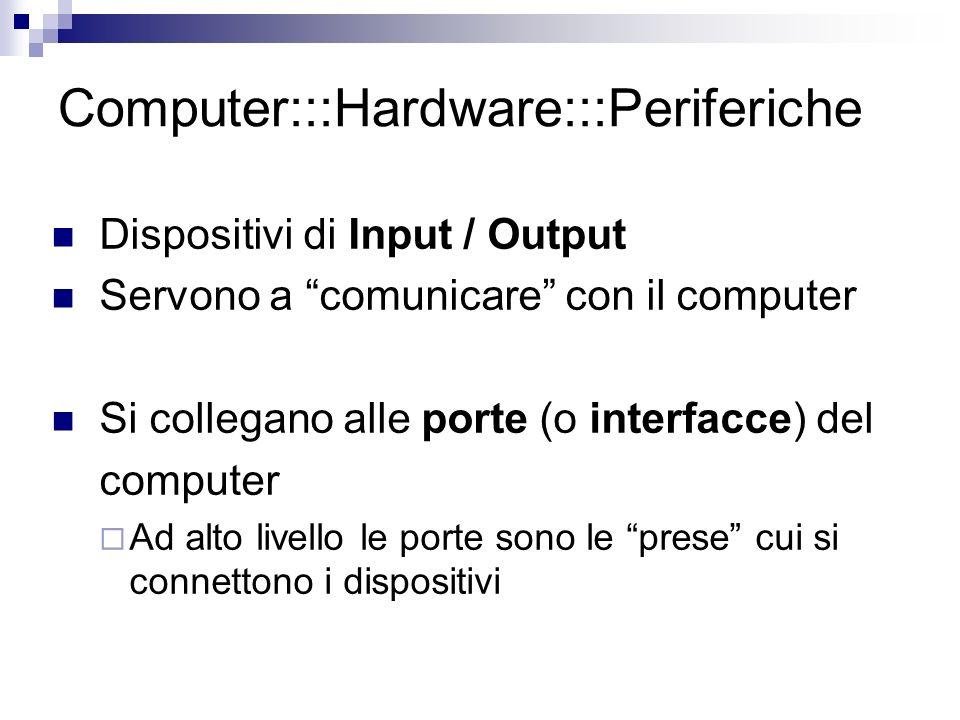 Computer:::Hardware:::Periferiche