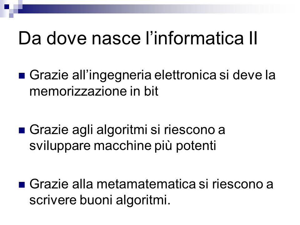 Da dove nasce l'informatica II