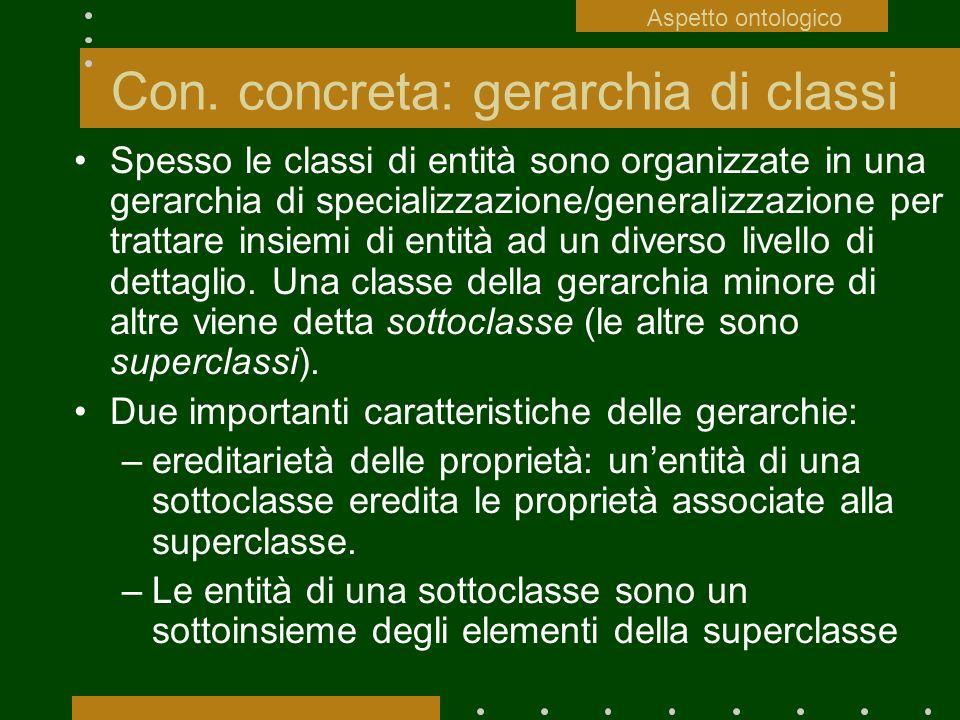 Con. concreta: gerarchia di classi
