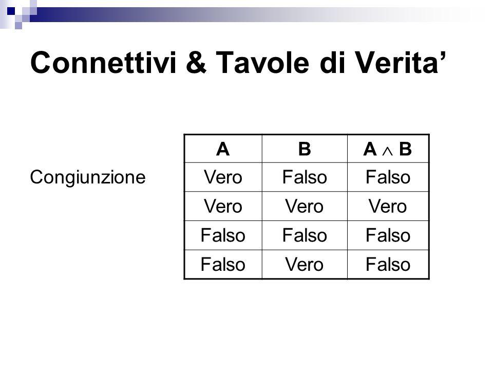 Connettivi & Tavole di Verita'