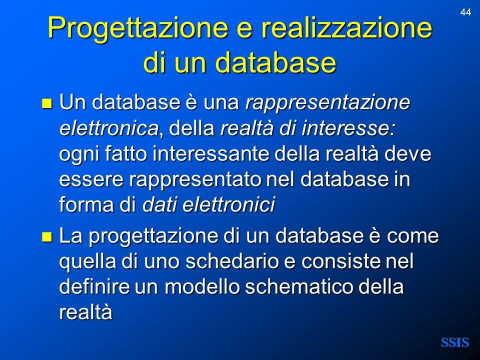 Progettazione e realizzazione di un database