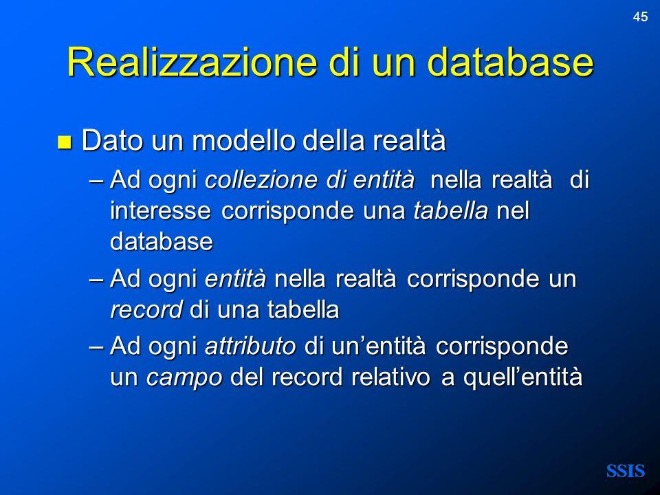 Realizzazione di un database