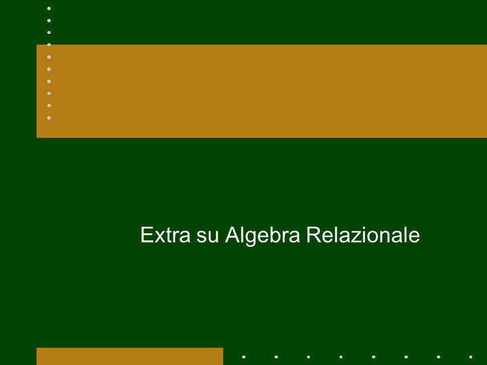 Extra su Algebra Relazionale