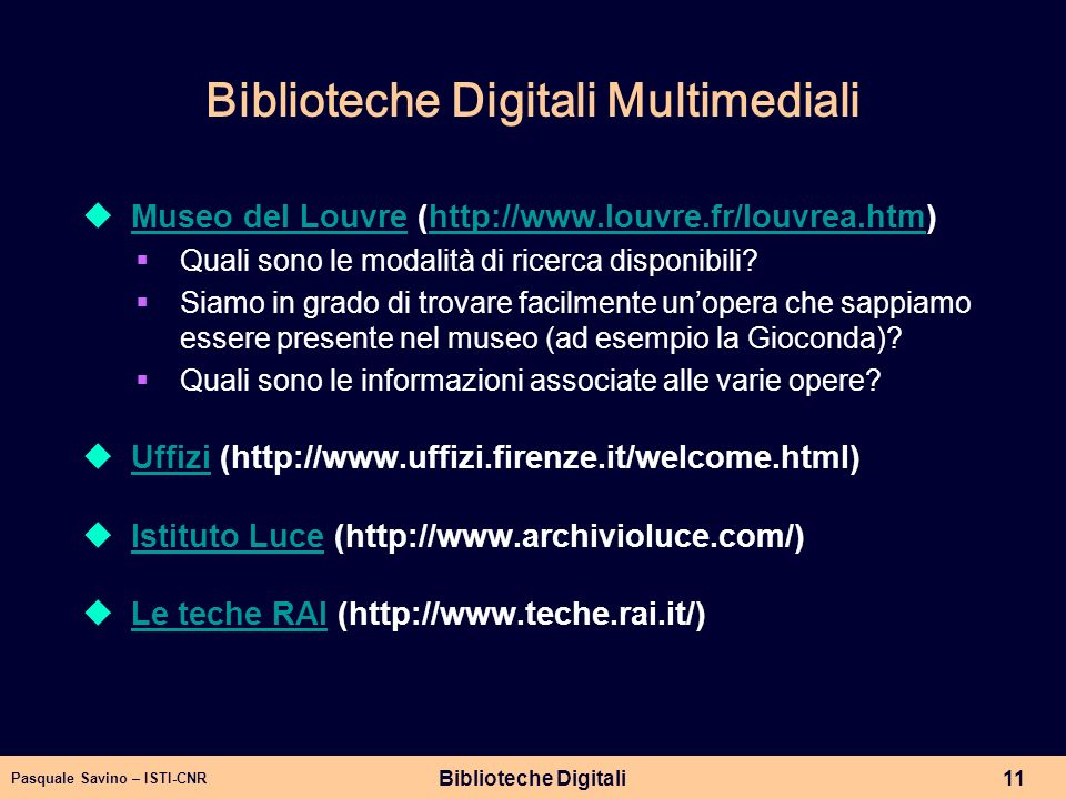 Biblioteche Digitali Multimediali
