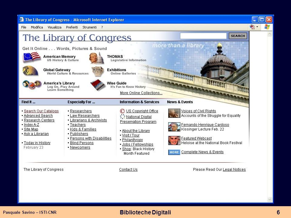 Library of Congress Biblioteche Digitali