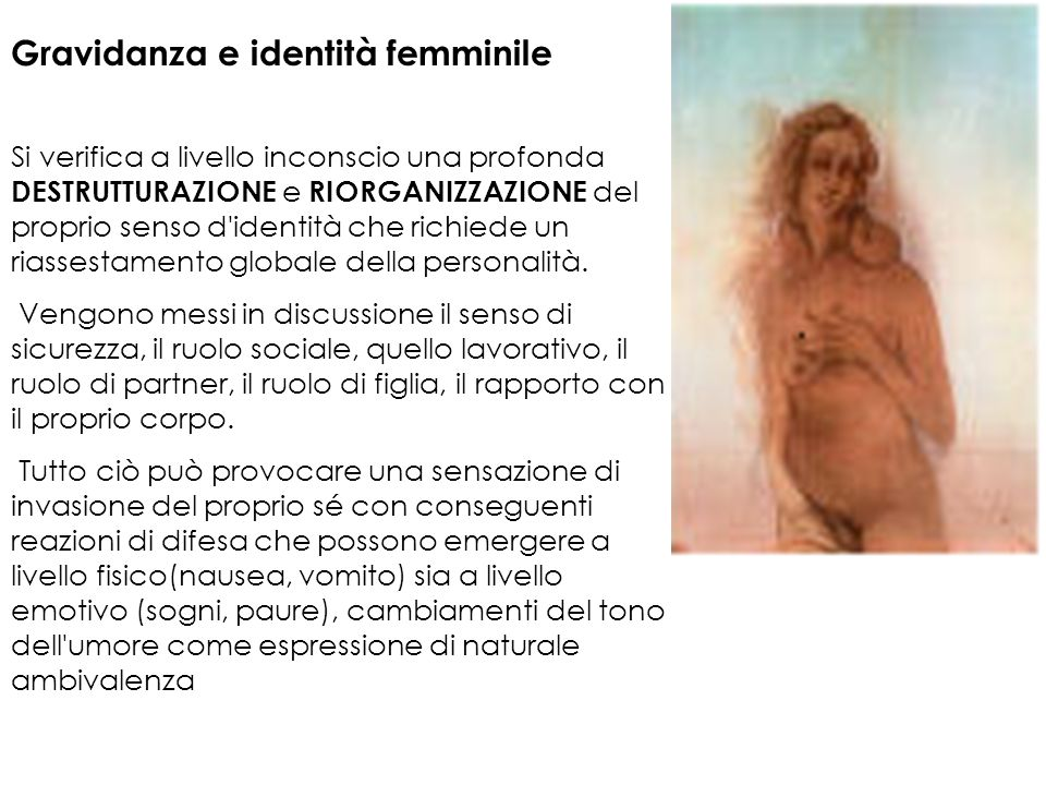 Gravidanza e identità femminile