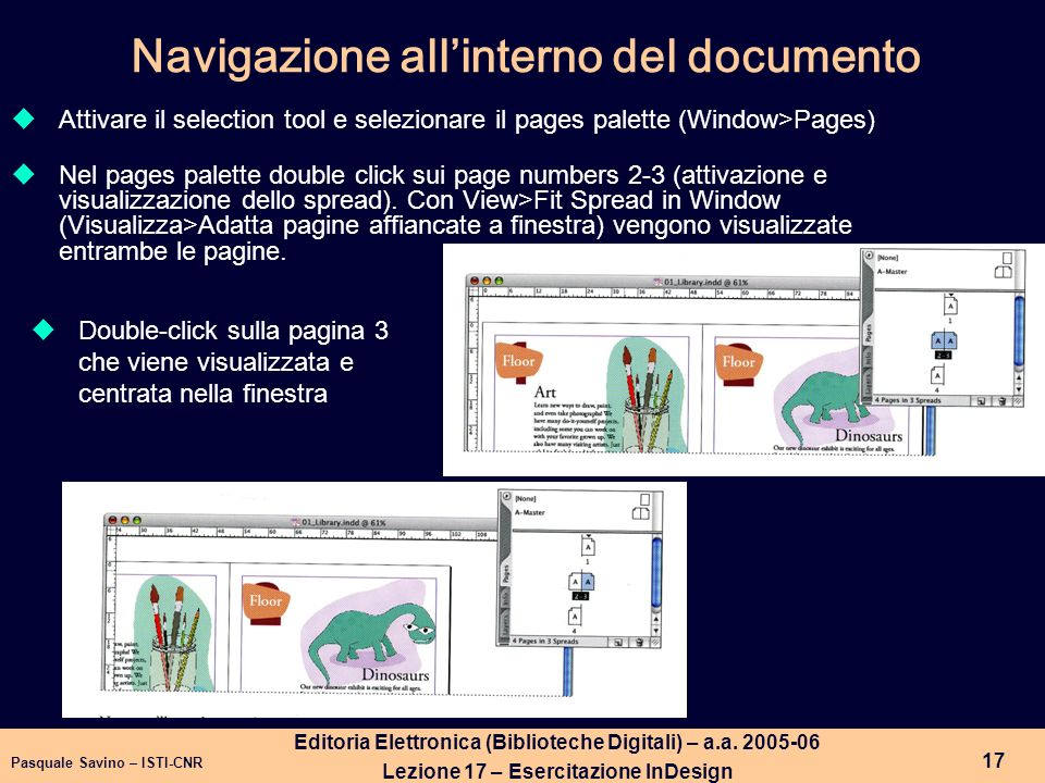 Navigazione all'interno del documento