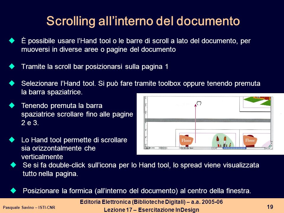 Scrolling all'interno del documento