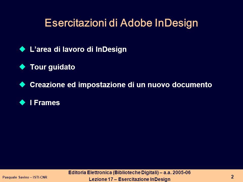 Esercitazioni di Adobe InDesign