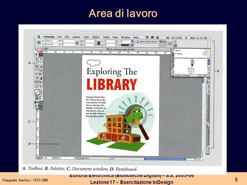 Area di lavoroEditoria Elettronica (Biblioteche Digitali) – a.a.