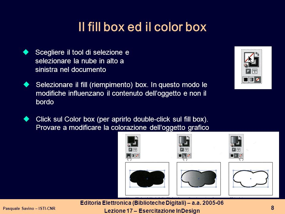 Il fill box ed il color box