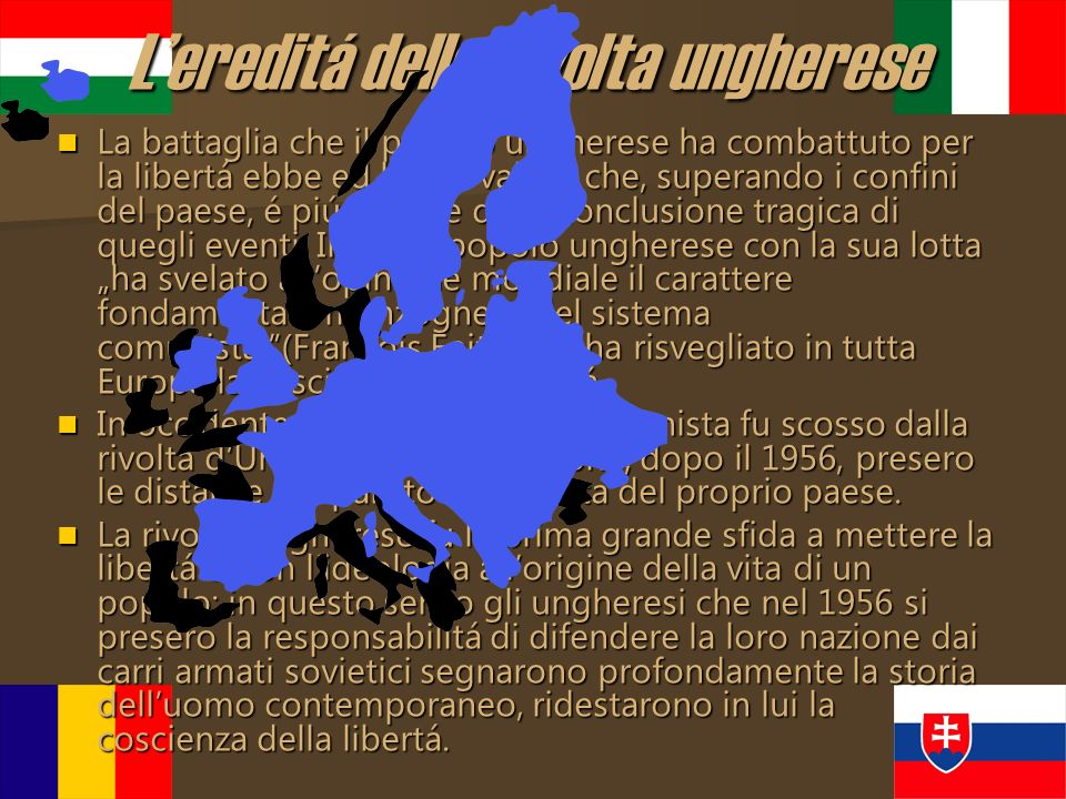 L'ereditá della rivolta ungherese