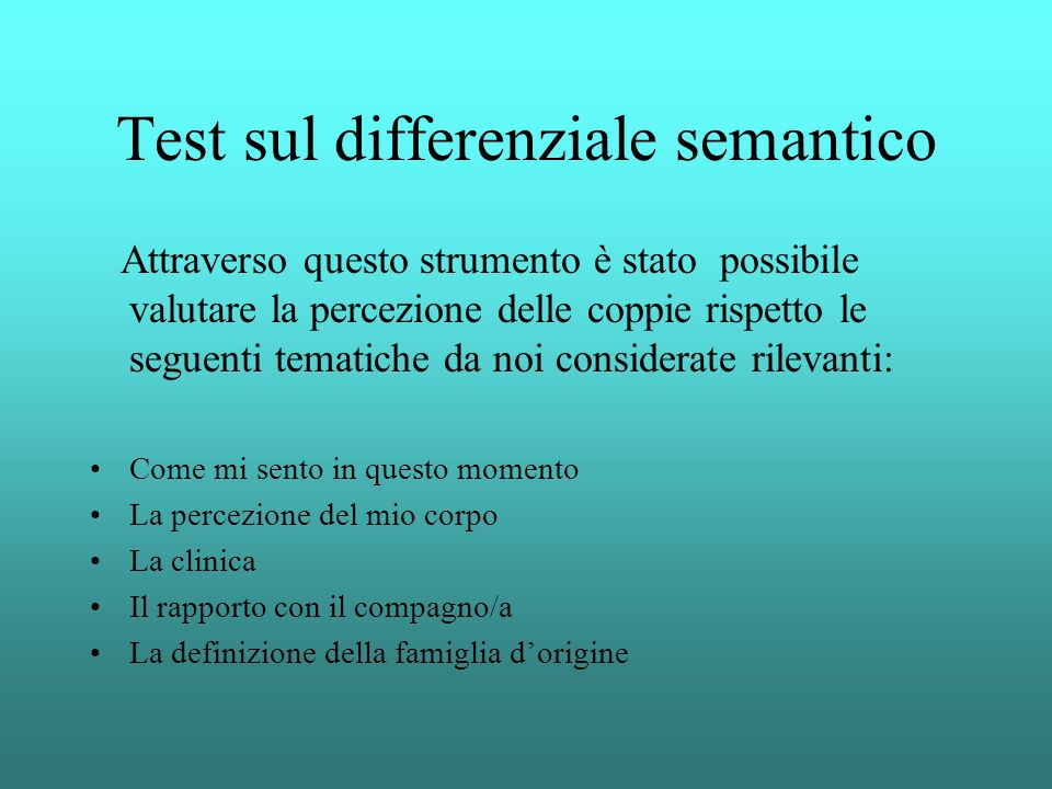 Test sul differenziale semantico