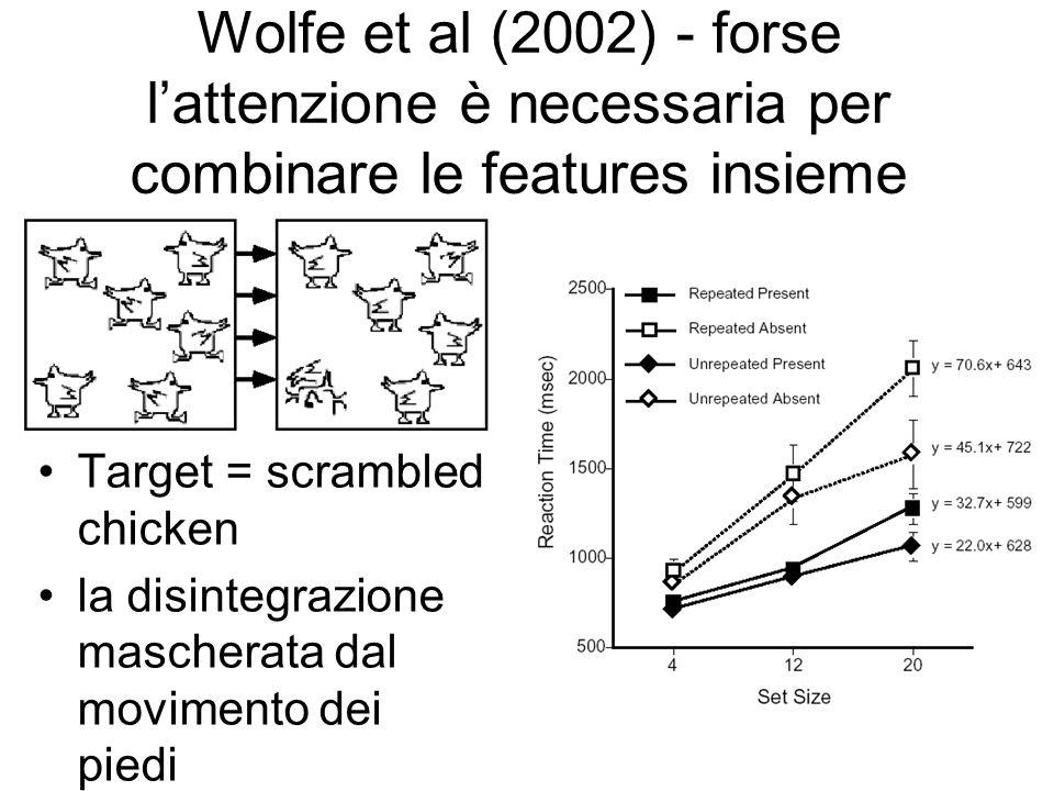 Wolfe et al (2002) - forse l'attenzione è necessaria per combinare le features insieme