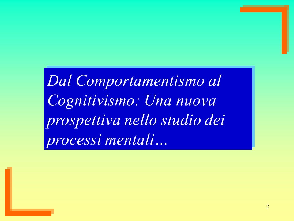 Dal Comportamentismo al Cognitivismo: Una nuova prospettiva nello studio dei processi mentali…