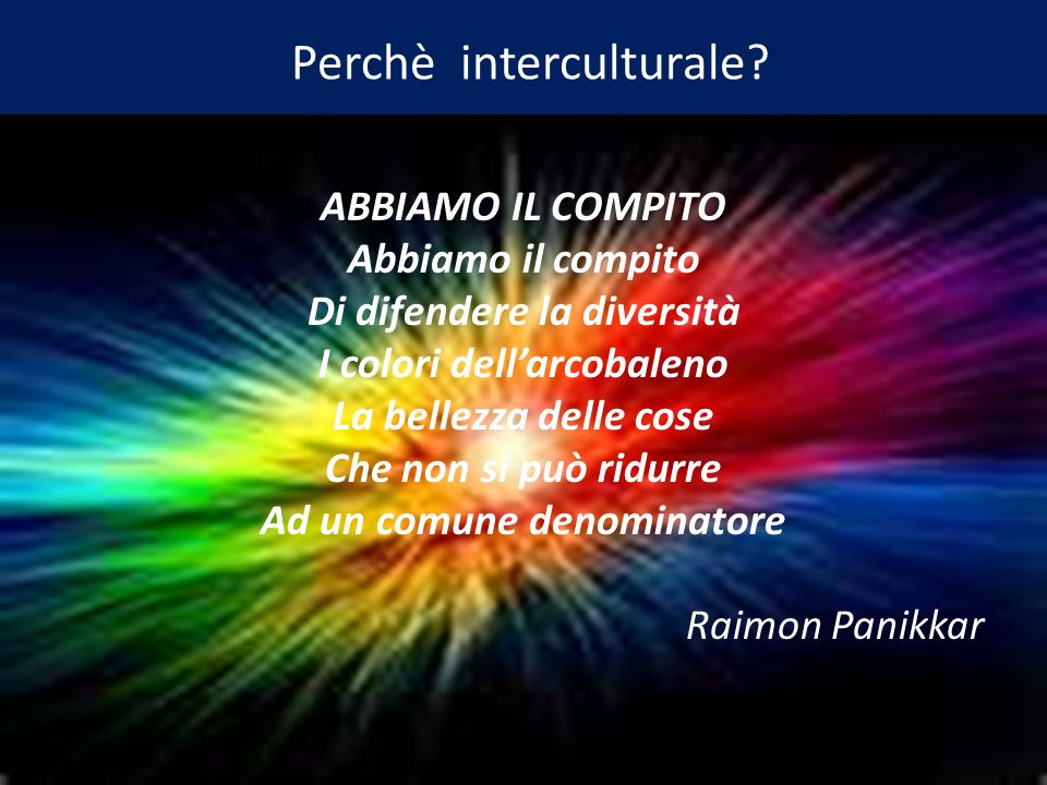 Perchè interculturale