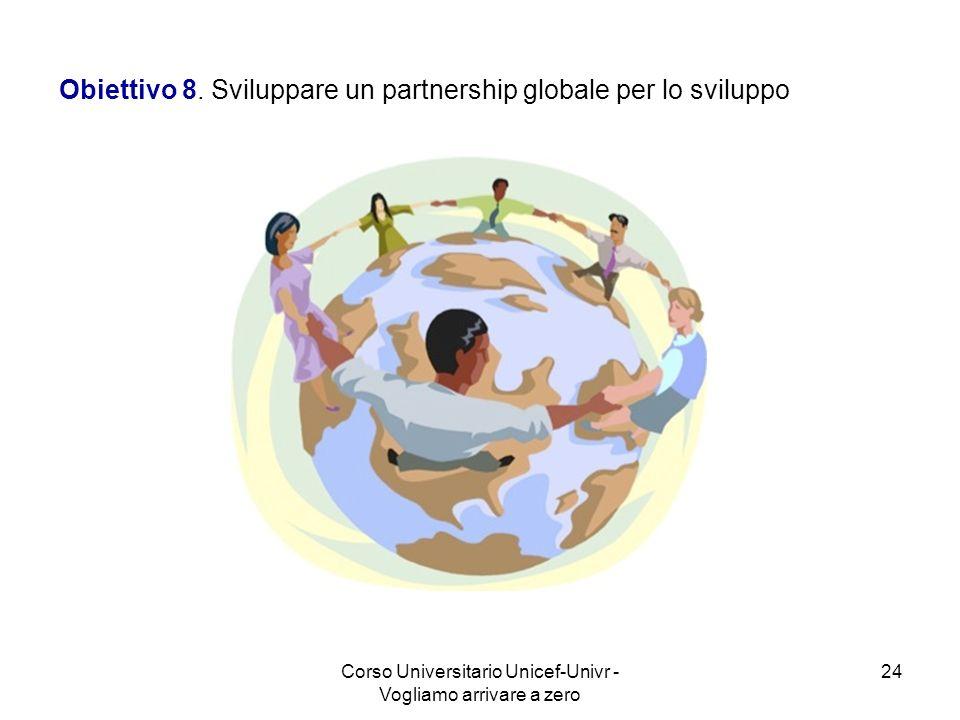 Obiettivo 8. Sviluppare un partnership globale per lo sviluppo
