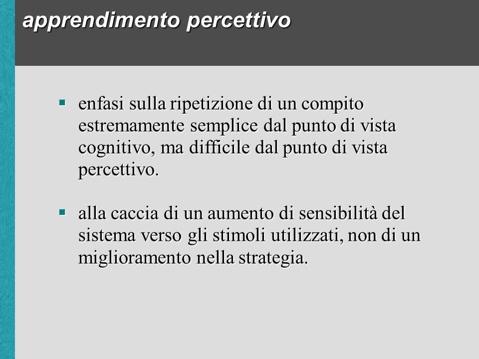 apprendimento percettivo