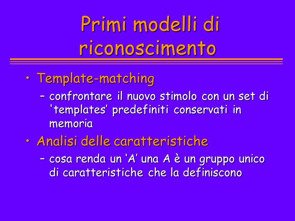 Primi modelli di riconoscimento