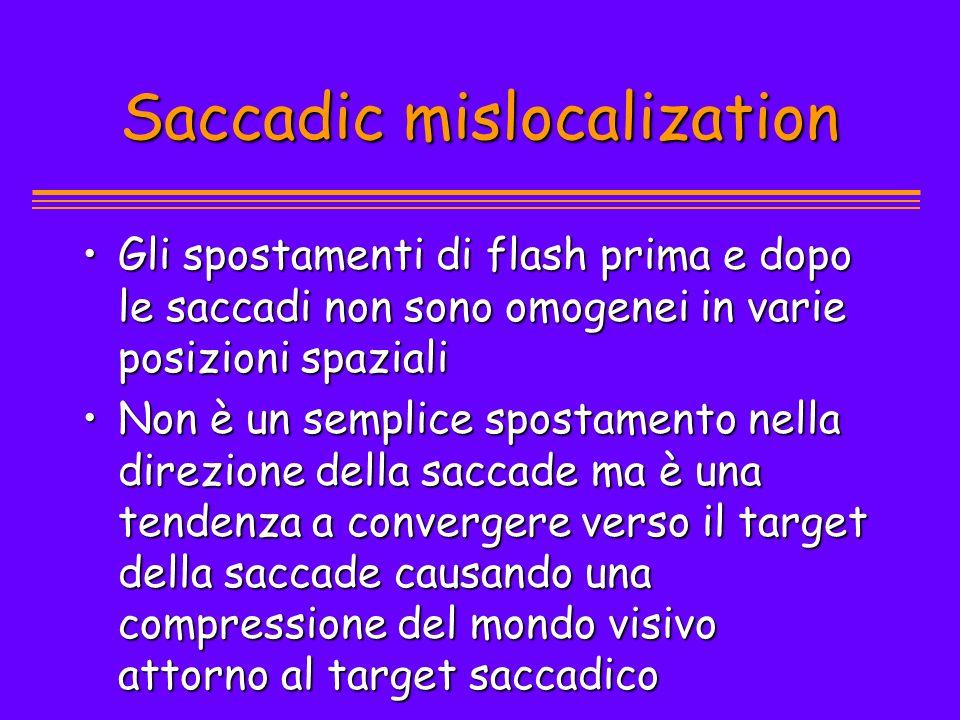 Saccadic mislocalization