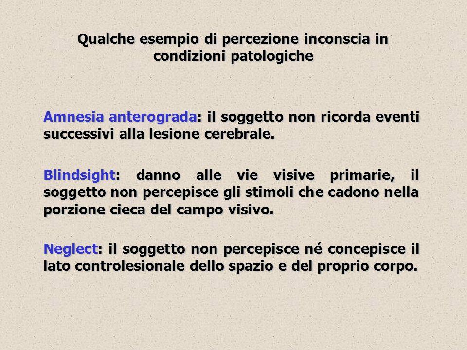 Qualche esempio di percezione inconscia in condizioni patologiche