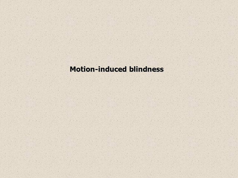 Motion-induced blindness