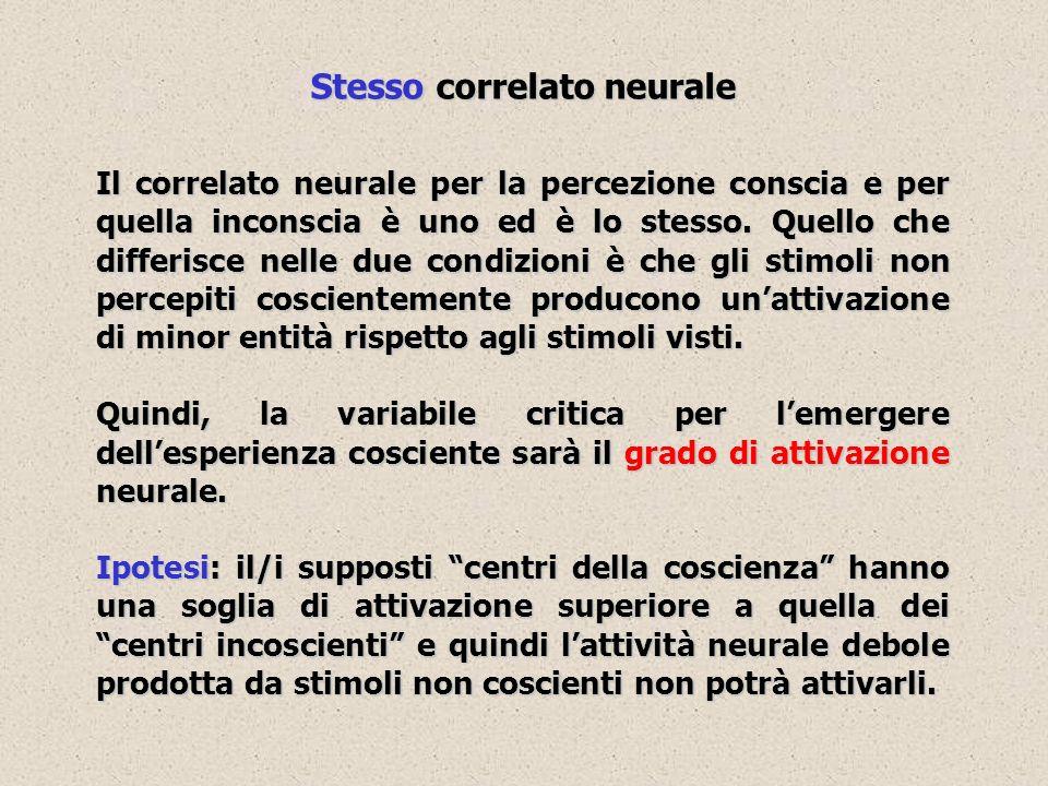 Stesso correlato neurale