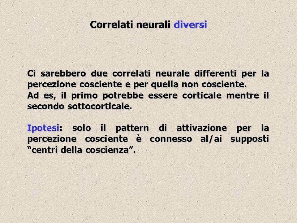 Correlati neurali diversi
