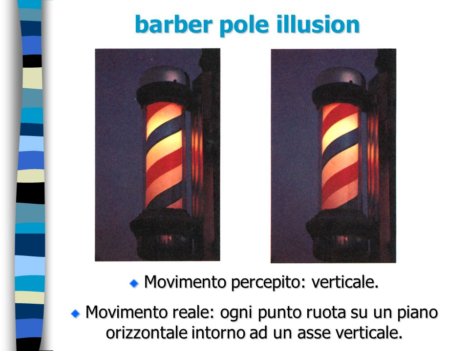Movimento percepito: verticale.