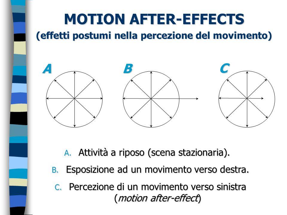 (effetti postumi nella percezione del movimento)