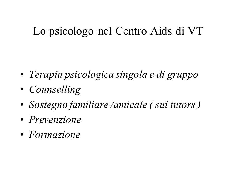 Lo psicologo nel Centro Aids di VT