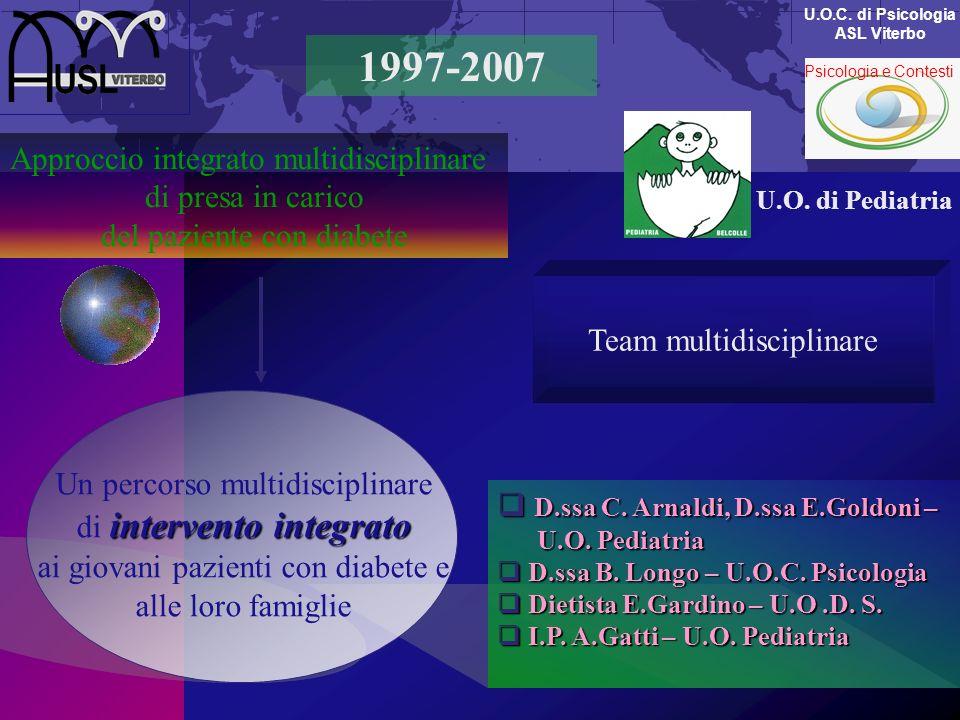 1997-2007 Approccio integrato multidisciplinare di presa in carico