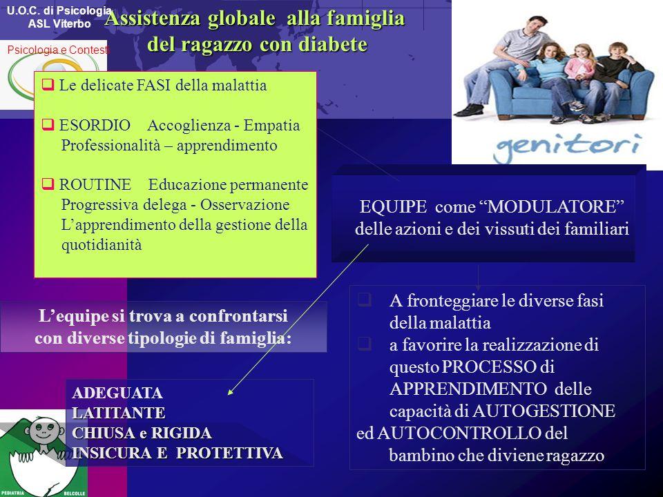 Assistenza globale alla famiglia del ragazzo con diabete