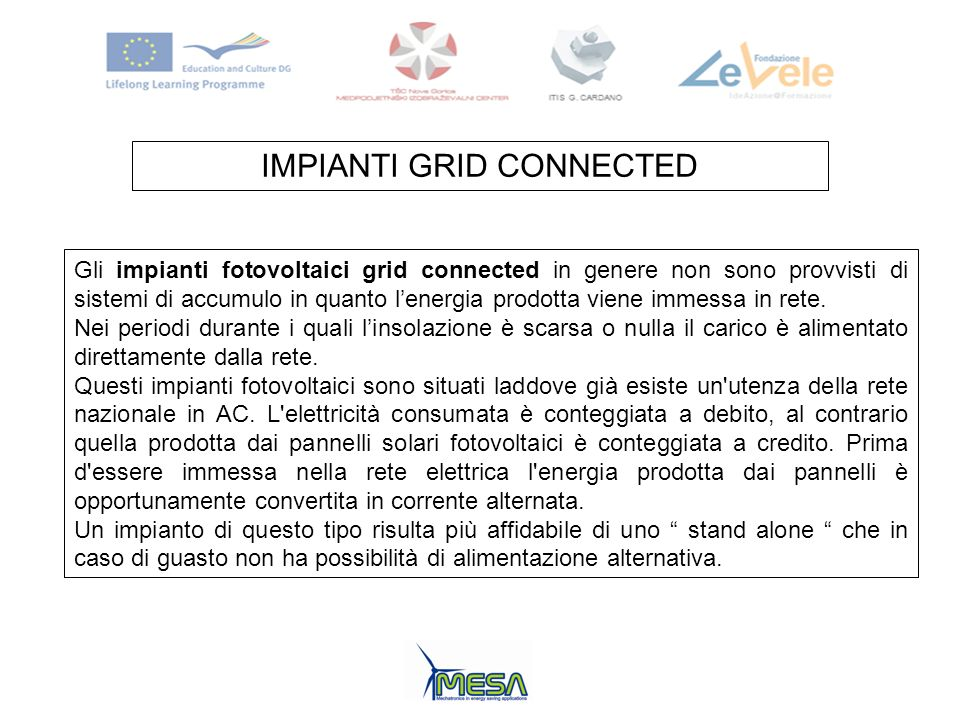 IMPIANTI GRID CONNECTED