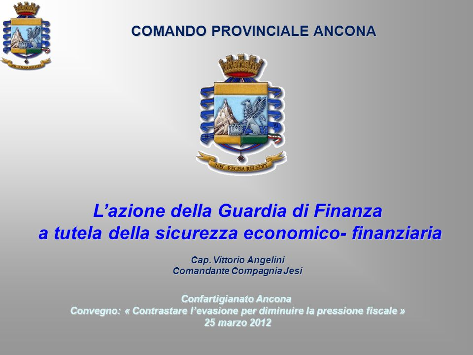 L'azione della Guardia di Finanza